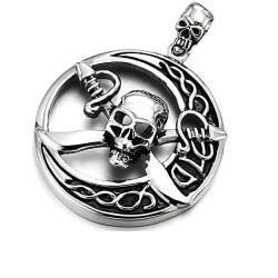 Ocelový přívěsek - Pirát lebka
