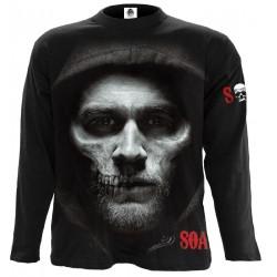 Pánské tričko s dlouhým rukávem Spiral Direct - Jax Skull