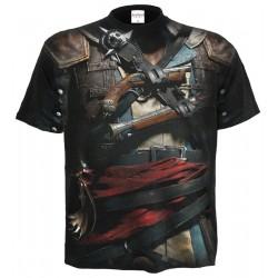 Pánské tričko Spiral Direct - Black Flag