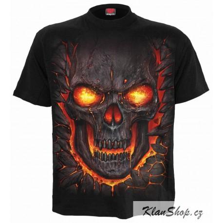 Pánské tričko Spiral Direct - Skull Lava