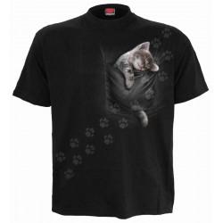 Pánské tričko Spiral Direct - Pocket Kitten