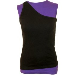 Dámské tričko Spiral Direct  - 2in1 Slant Top Purple and Black