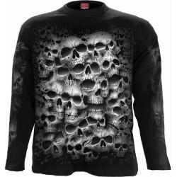 Pánské tričko s dlouhým rukávem Spiral Direct - Twisted Skulls