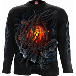 Pánské tričko s dlouhým rukávem Spiral Direct - Steampunk Skull