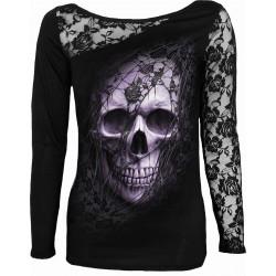 Dámské tričko Spiral Direct - Lace Skull