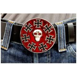 Přezka na opasek - Iron Cross Skulls