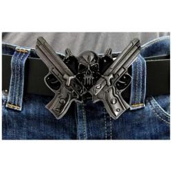 Přezka na opasek - Guns And Skull