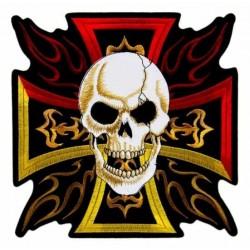 Nášivka - Burning Cross with Skull