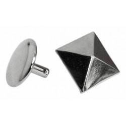 Ozdoba na kůži či textil - Pyramida 17 x 17 mm