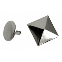 Ozdoba na kůži či textil - Pyramida 14 x 14 mm