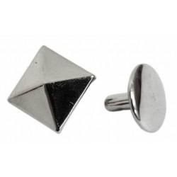 Ozdoba na kůži či textil - Pyramida 11 x 11 mm