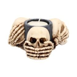 Dekorační Svícen - Three Wise Skulls