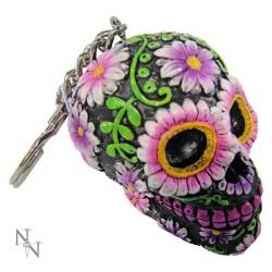 Klíčenka - Sugar Petal Skull