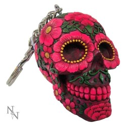 Klíčenka - Sugar Blossom Skull