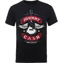 Pánské tričko Johnny Cash - Winged Guitar