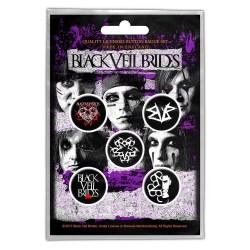 Set Placek Black Veil Brides - Pentagram