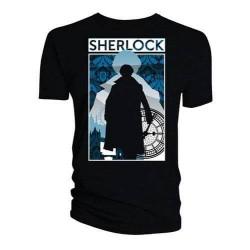 Dámské tričko Sherlock - Silhouette City
