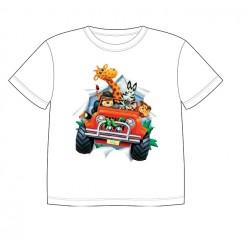 Dětské tričko s potiskem zvířat - Zvířátka v autě