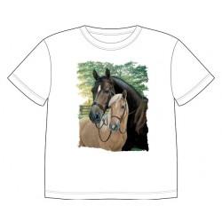 Dětské tričko s potiskem zvířat - Klisna s hříbětem
