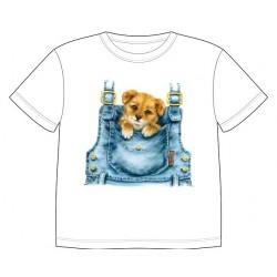 Dětské tričko s potiskem zvířat - Štěňátko