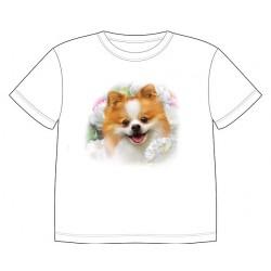 Dětské tričko s potiskem zvířat - Pomeranian