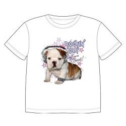 Dětské tričko s potiskem zvířat - Buldoček
