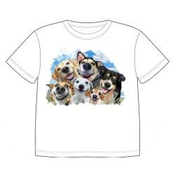 Dětské tričko s potiskem zvířat - Vysmátí pejsci