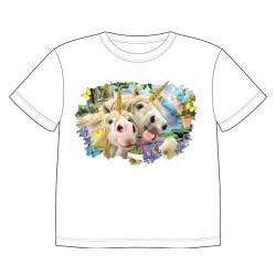 Dětské tričko s potiskem zvířat - Jednorožci