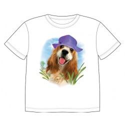 Dětské tričko s potiskem zvířat - Kokršpaněl