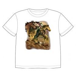 Dětské tričko s potiskem zvířat - Stádo koní