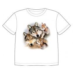 Dětské tričko s potiskem zvířat - Vlčí smečka