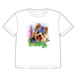 Dětské tričko s potiskem zvířat - Jorkšír s motýlem