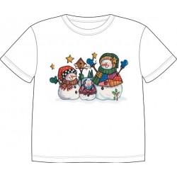 Dětské tričko s potiskem zvířat - Sněhuláčci