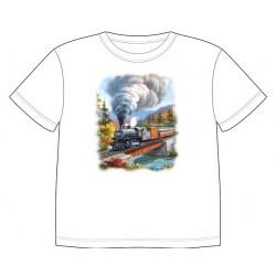 Dětské tričko s dopravními prostředky - Lokomotiva
