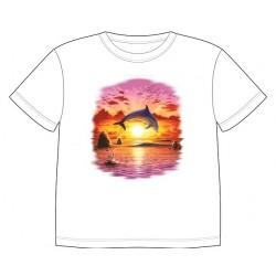Dětské tričko s dobarvujícím se potiskem – Delfín