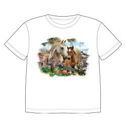 Dětské tričko s dobarvujícím se potiskem – Klisna s hříbětem