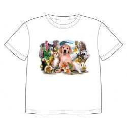 Dětské tričko s dobarvujícím se potiskem – Malá zvířátka