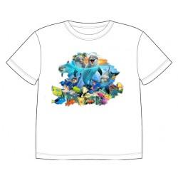 Dětské tričko s dobarvujícím se potiskem – Hrající si delfíni