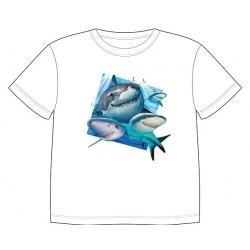 Dětské tričko s dobarvujícím se potiskem – Žraloci