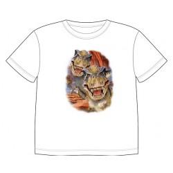 Dětské tričko s dobarvujícím se potiskem – Tyrannosauři
