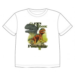 Dětské tričko s dobarvujícím se potiskem – Tyrannosaurus Rex