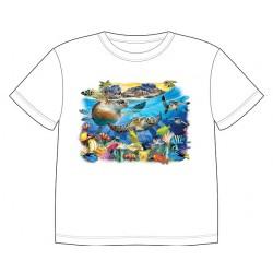 Dětské tričko s dobarvujícím se potiskem – Hrající si želvy