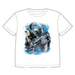 Dětské tričko s dobarvujícím se potiskem – Vyjící vlci