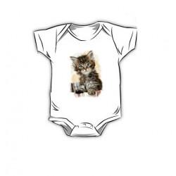 Dětské body s potiskem – Koťátko