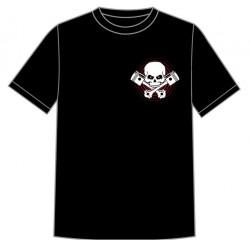 Dětské motorkářské tričko - Lebka