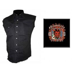 Pánská košile s potiskem - Highway To Hell