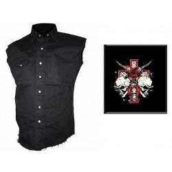 Pánská košile s potiskem - Skull And Roses
