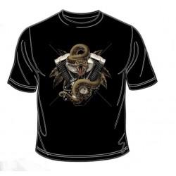 Pánské tričko  -  Snake & Motor