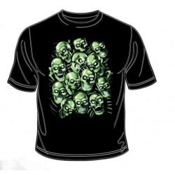 Pánské tričko  - Green Skulls