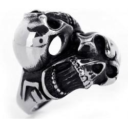 Prsten z chirurgické oceli - Lebky